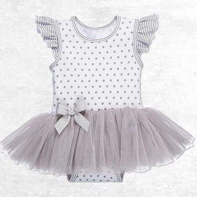 GNZ 013 Infants Girls Diaper Shirt Tutu ER58078