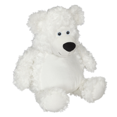 EB 014 Embroidered White Teddy Bear