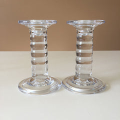 SC 002 Glass Candlesticks set of 2 CP78475