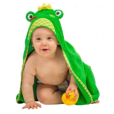 ZOO 004 Baby Hooded Bath Towel Flippy The Frog ZOO 057