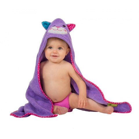 ZOO 003 Baby Hooded Bath Towel Kallie The Kitten ZOO 055