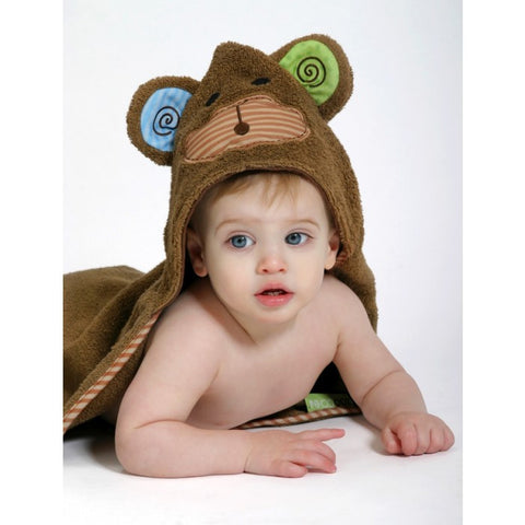 ZOO 007 Baby Hooded Bath Towel Max The Monkey ZOO 052