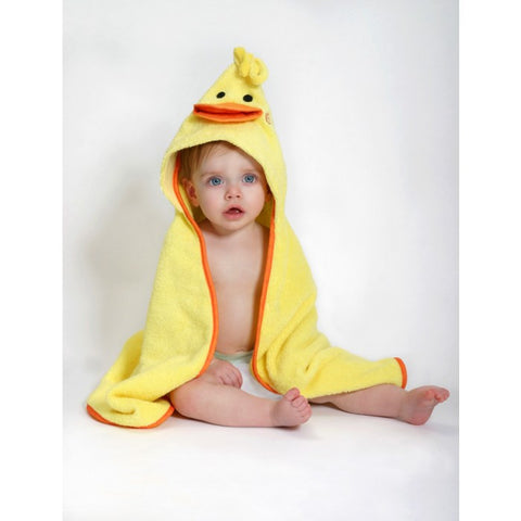 ZOO 002 Baby Hooded Bath Towel Puddles The Duck ZOO 053