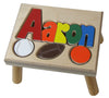 HWW 004 Regular Name Stool(prices vary depending on choice of wood)