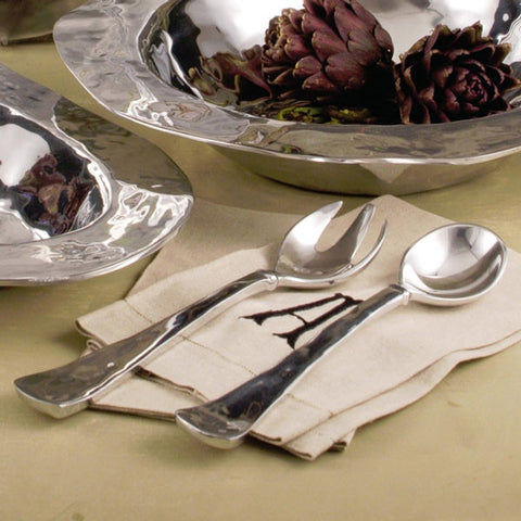 Pewter SOHO salad servers