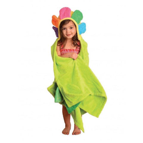 ZOO 022 Toddler Hooded Towel Flora the Flower ZOO022