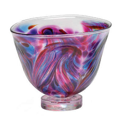 KIT 006 Small Glass Bowl Feather - Berry TT-CBFE-04-BE