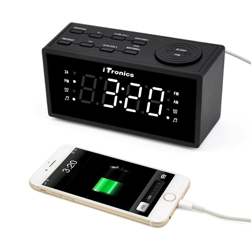 iTronics 9005I Digital Clock Radio  - charging