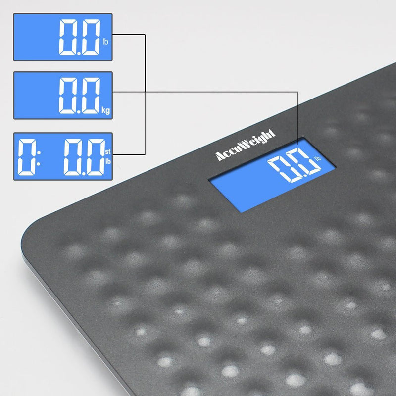 Accuweight AW-BS002WHU Weight Scale measure weight in lb.kg or st