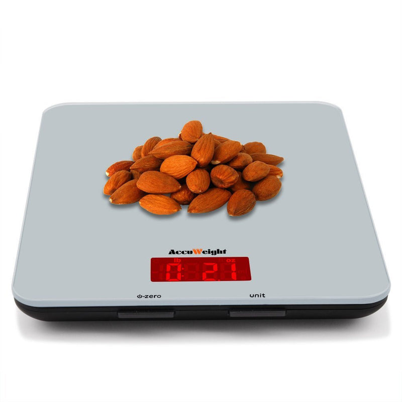 Accuweight AW-KS001BOS Kitchen Scale Weighing Almonds