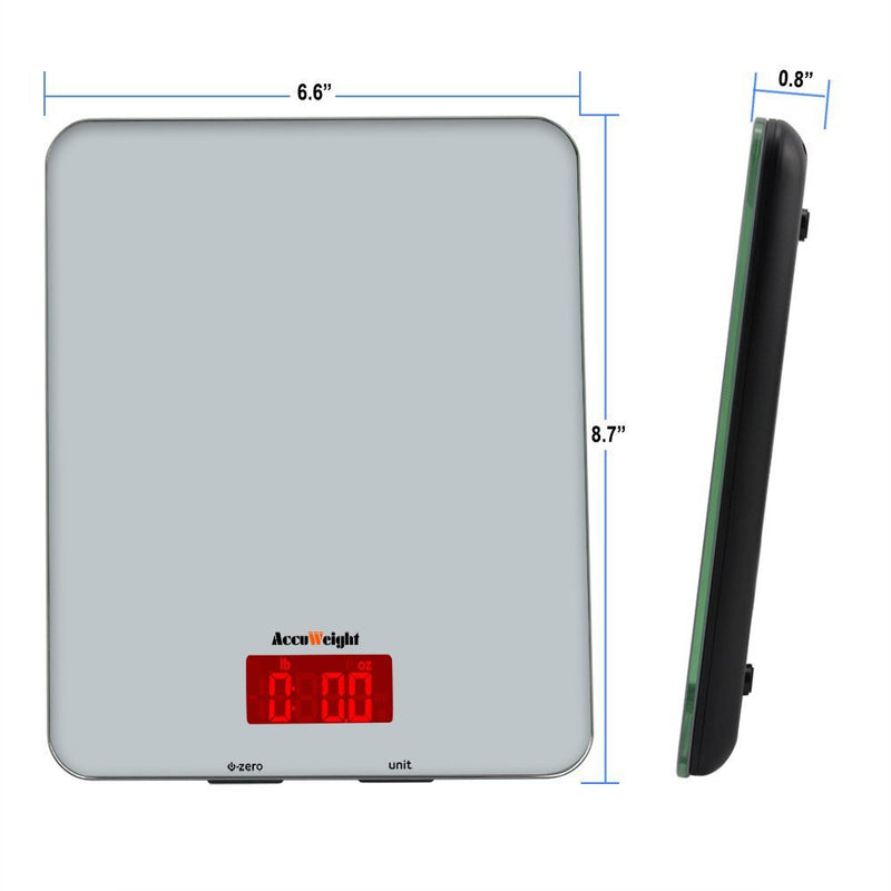 Accuweight AW-KS001BOS Food Scale Dimensions
