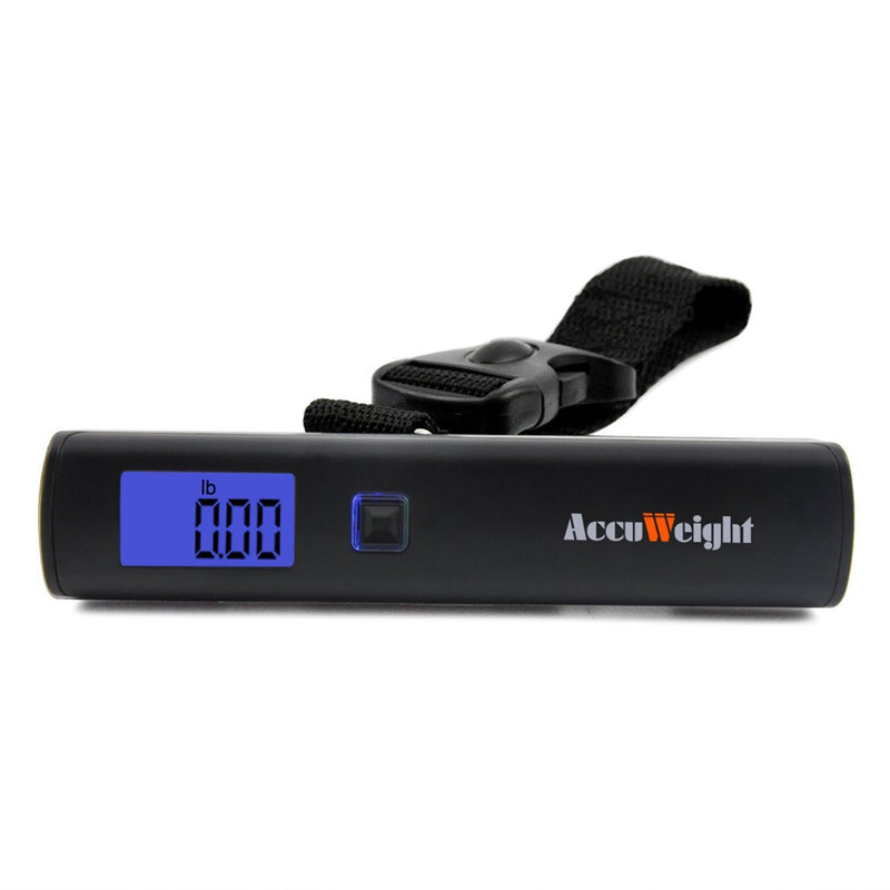 Accuweight AW-LS001BB Portable Digital Luggage Scale Front View