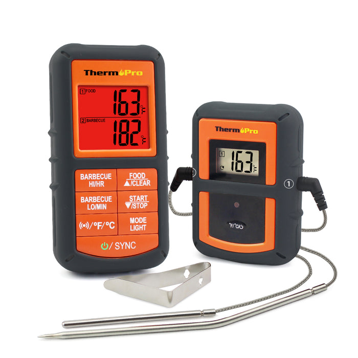 Charmant ThermoPro TP 08 Thermometer Front View Transmitter And Receiver ...