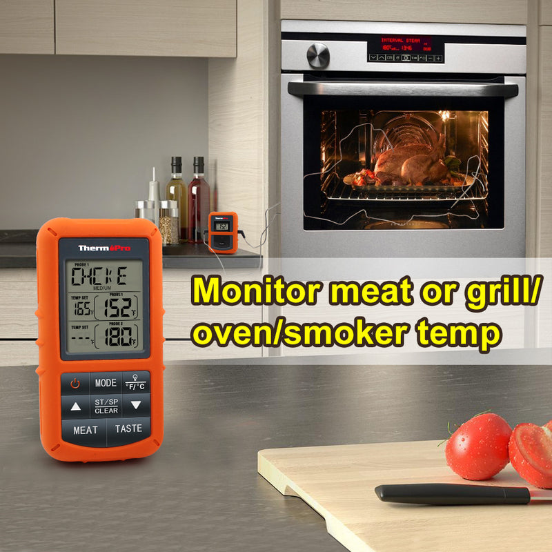 ThermoPro TP 20 Digital Wireless Thermometers Dual Probe Meat and Oven