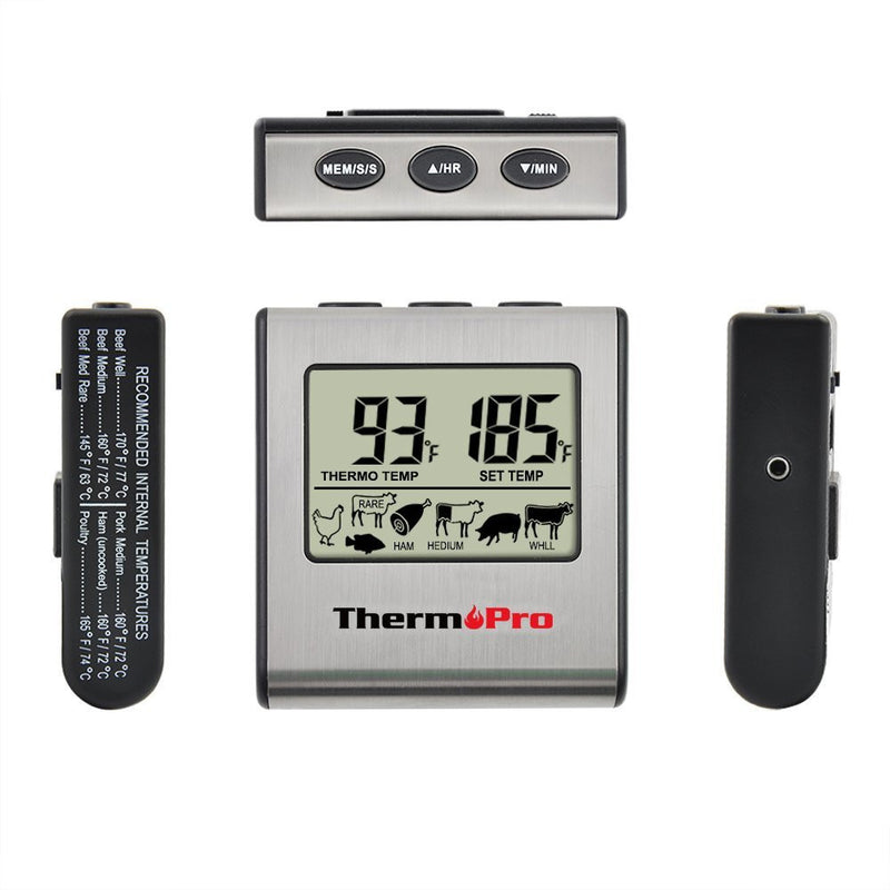ThermoPro TP-16 Digital Meat Thermometer Side View of Buttons
