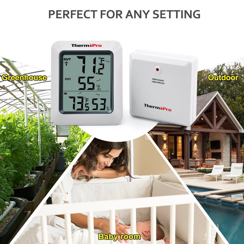 ThermoPro TP60 Indoor Outdoor Replacement Sensor - Any Setting