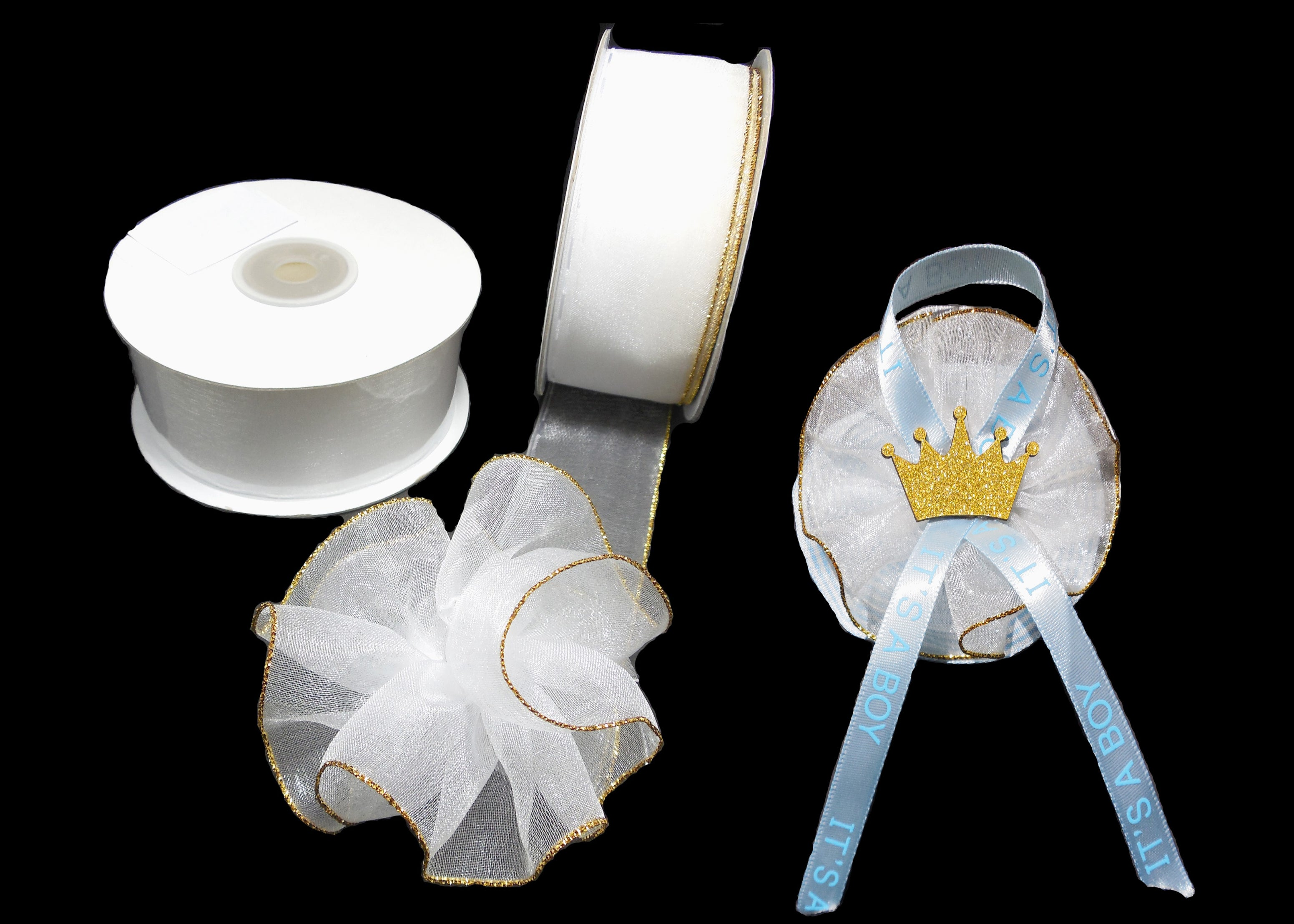 """3//8/"""" White Organza Thin Pull Bow String Ribbon Gift Wrapping Favor Dec 25 Yard"""