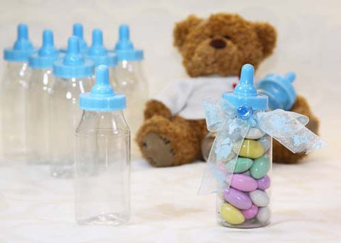12 candy fillable plastic bottles baby shower favors 4 5 inches tall
