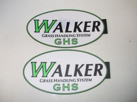 GHS Walker Mower Catcher Decals OEM 5801