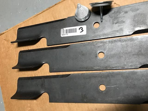 Set of three(3)Scag Mower OEM blades 481712+FREE blade balancer