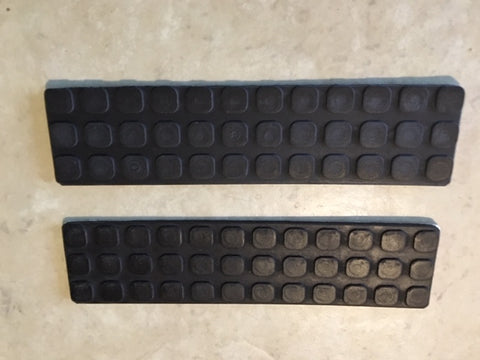 "Walker Mower 1-1/2"" x 6"" Front Deck Rubber Mat foot treads SET of two (2)"