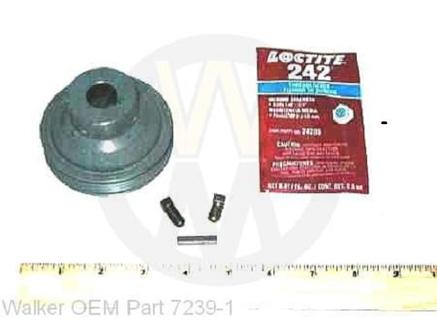 "Walker Mower 10-1/2"" Blower Pulley Part # 7239-1 (Micro V)"
