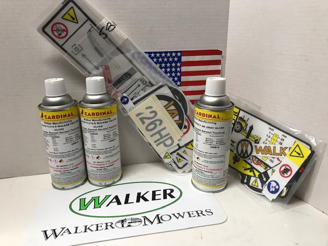 Walker Mower Paint and Decal Kit