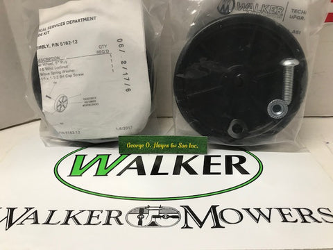 "Walker Mower Deck Roller Wheels 5"" Poly (SET of 2) 5162-12 (was 5162-11) OEM"