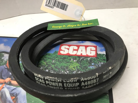 Scag Mower OEM Belt, Cutter Deck 48087 (MADE WITH KEVLAR)