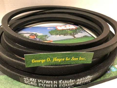 Scag Mower OEM Cutter Deck Belt #481980
