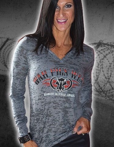 Women's WPW Burnout Grey Hoodie