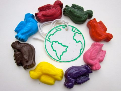Peace on Earth - All Natural Soy Crayons (set of eight)