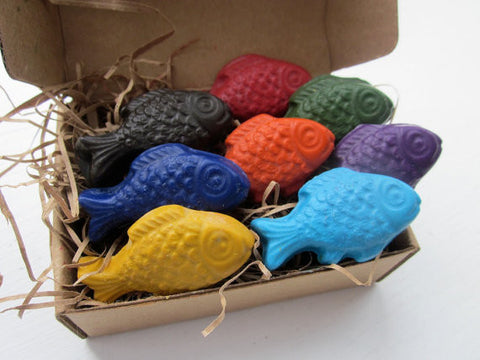 Freshwater Fish - All Natural Soy Crayons (set of eight)