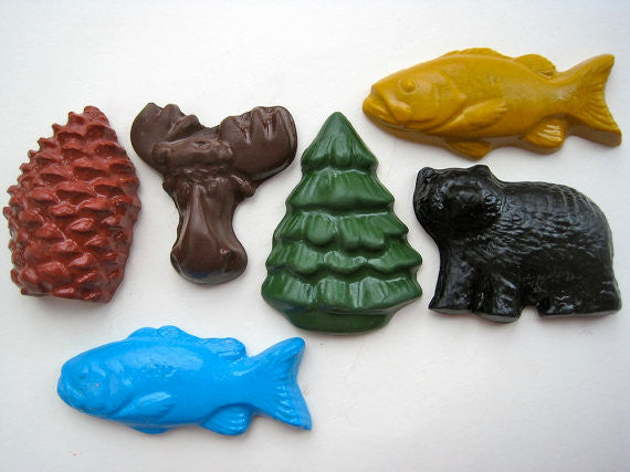 Eco-Friendly Gifts - All Natural Crayons - Up North Animals