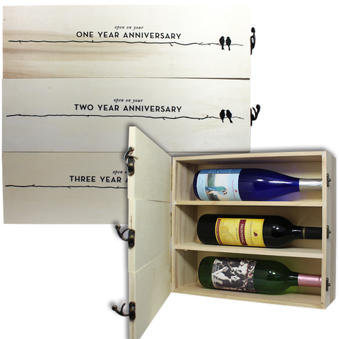 Anniversary Wine Bottle Boxe