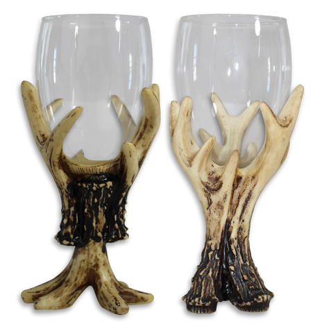 Antler Wine Glass Set Of 2