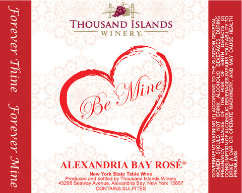 Alexandria Bay Rosé Be Mine Label