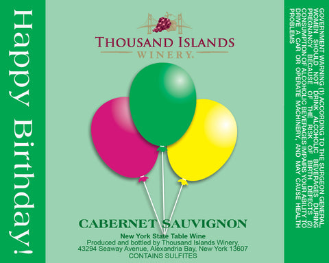 Green Birthday Wine Label
