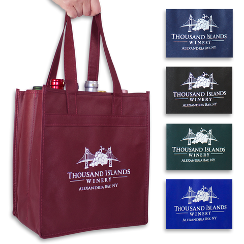 Photot of Reusable 6- Bottle Tote with TIW Logo