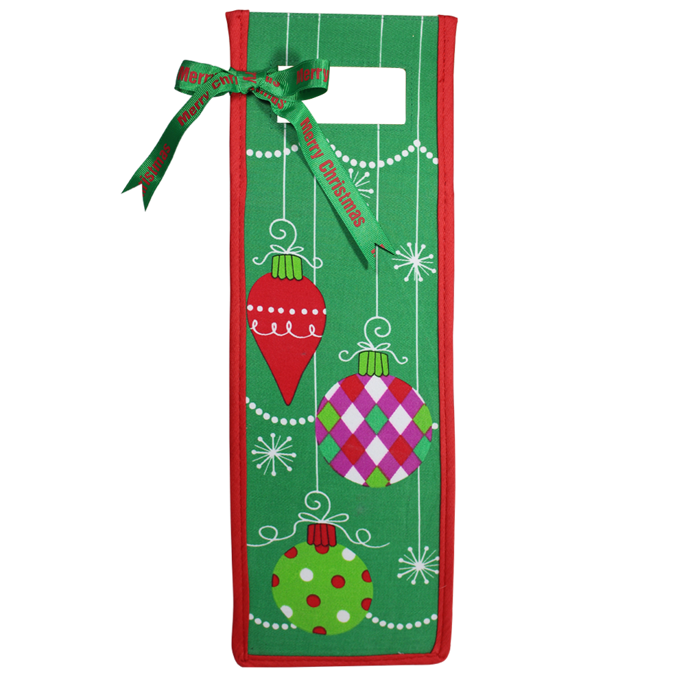Cloth Holiday Wine Gift Bags - Thousand Islands Winery