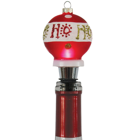 Photo of Ho Ho Ho Holiday Light-Up Bottle Stopper