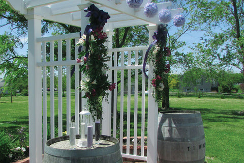 Photo of Winery Wedding Arbor