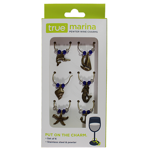 True Marina Pewter Wine Charms