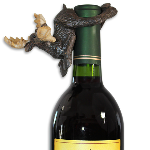 Winery Moose Bottle Hanger
