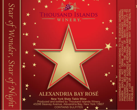 Alexandria Bay Rosé Holiday Star Label image