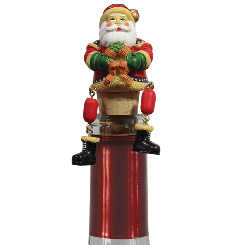 photo of Santa Holiday Dangle Bottle Stopper