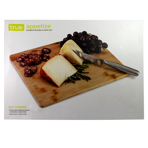 True Appetize Bamboo Board and Knife Set