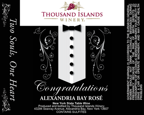 Image of Alexandria Bay Rosé Tuxedo Wedding Label