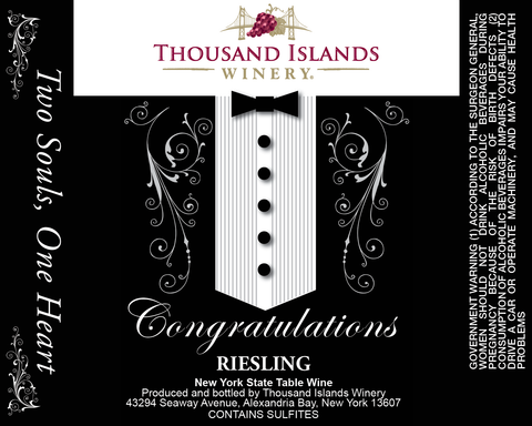 Tuxedo Wedding Label