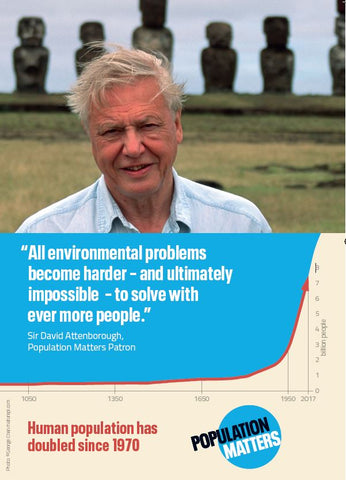 'Attenborough' Population Matters leaflet